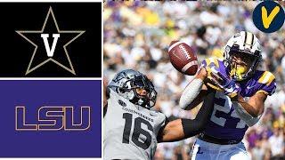 NCAAF Week 4 2019 #4 LSU vs Vanderbilt College Football Full Game Highlights