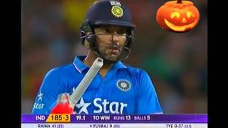 Yuvraj Singh wins a last ball thriller Vs Aus T20 2016