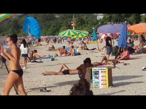 Nice Patong Beach video. 19.1.2016,Phuket,Thailand