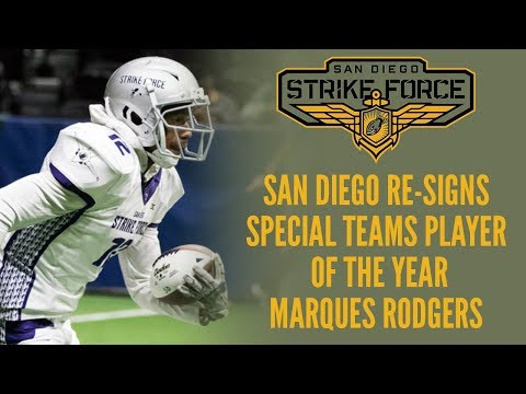 Strike Force Re-Sign WR/KR Marques Rodgers