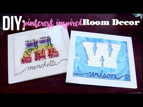 Diy Pinterest Inspired Crayon Letter Frame Youtube