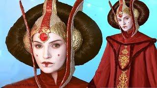 Queen Amidala STAR WARS Makeup / Hair / Costume - Cosplay Tutorial