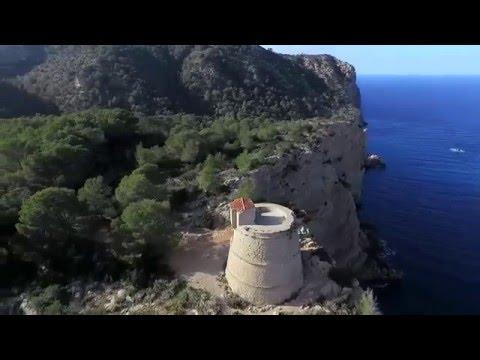 Ibiza, el norte de la isla a vista de pájaro
