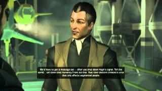 With Darrows plan out of the way Adam Jensen rushes to rescue Taggart and Sarif in the tunnels of Panchaea and finally stop the broadcast from transmitting