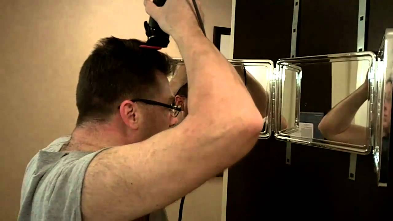 Cut Your Own Hair How To Barber Clipper Haircut At Home Mirror