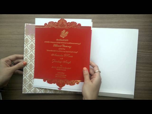 Indian Wedding Invitations on SevenPromises.com AVV/1338 - YouTube