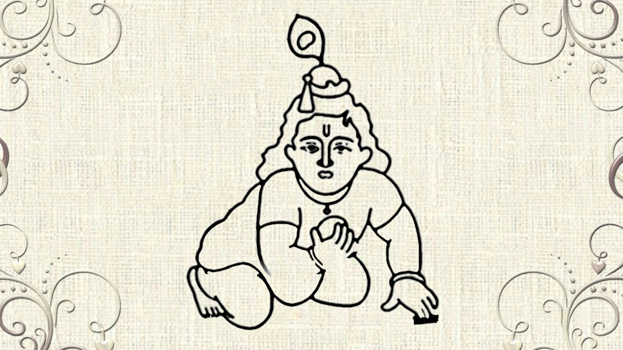 How To Draw Lord Krishna