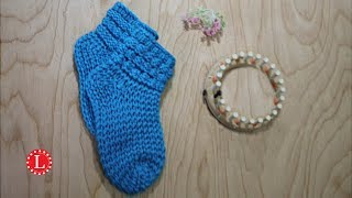 LOOM KNITTING Socks with Bubbles on a 24-peg Round Knitting Loom