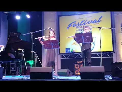 Students live video - 2 flutes colasanti toma -Festival dei Conservatori