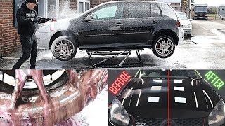 Dirty 15 Year Old VW Golf GTI Deep Clean and Full Detail |  EXTREME FILTH WARNING!!!