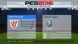 PES 2016: All Leagues & All Teams