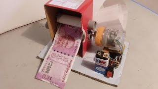 How to Make a Electric Money Printer - DIY Magic Trick