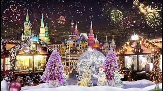 Смотреть видео Путешествие в Рождество 2020  Кремль,Зарядье,Манежная площадь,Площадь Революции,Почётный караул и др онлайн