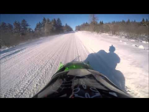 Redfield NY Snowmobiling February 2016