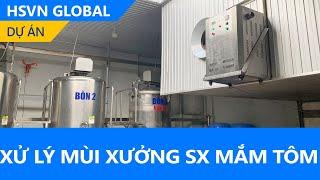 Khử mùi mắm tôm - Giảm thiểu lượng lớn mùi nhờ máy ozone công nghiệp DrOzone DK