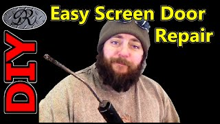 ★ Diy Easy Screen Door Repair | Wind Bent The Pressure Closer, Again ★