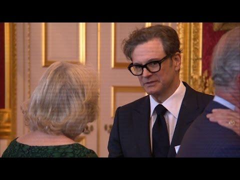 Charles and Camilla host British Oscar winners