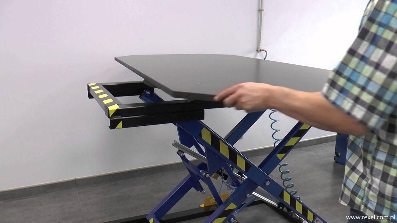 Table l vatrice pneumatique rexel st 3 ob youtube for Table elevatrice moto