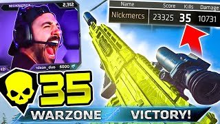 MY MOST INSANE WARZONE CLIP EVER! 35 KILL WIN!