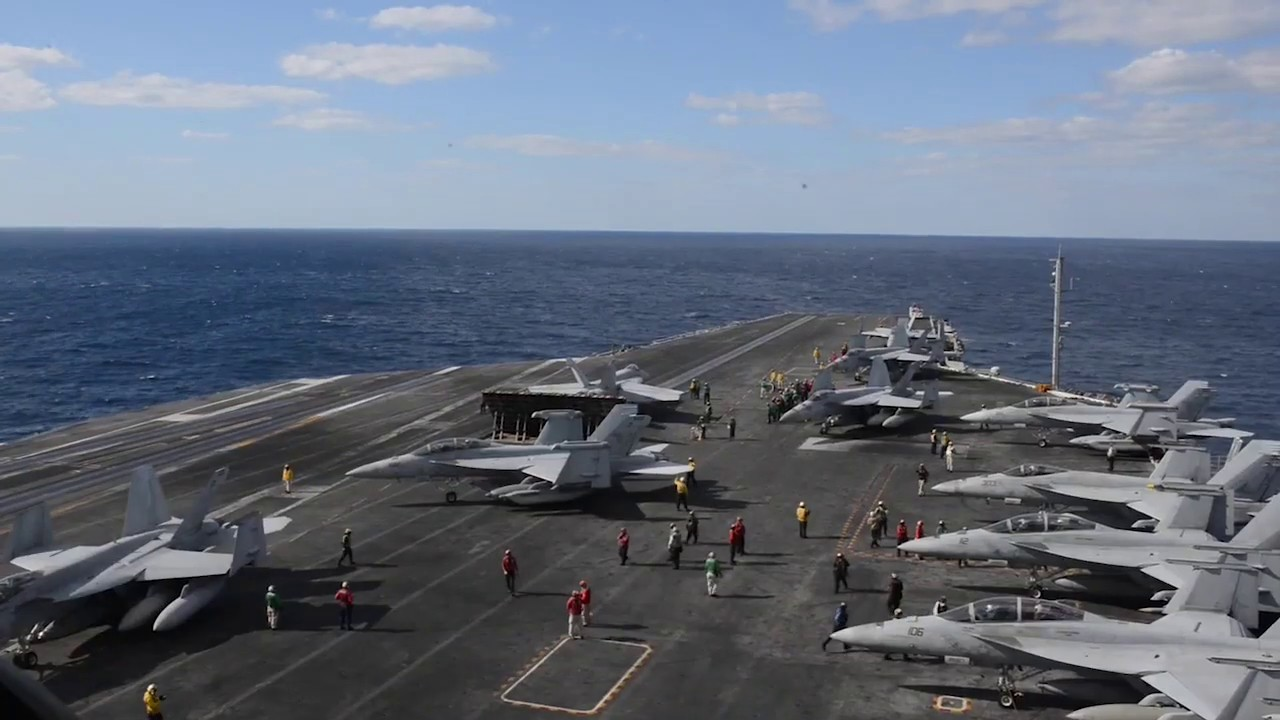 CORAL SEA (July 19, 2019) The Navy's forward-deployed aircraft carrier USS Ronald Reagan (CVN 76) conducts flight operations during Talisman Sabre 2019. Talisman Sabre 2019 illustrates the closeness of the Australian and U.S. alliance and the strength of the military-to-military relationship. This is the eighth iteration of this exercise. Ronald Reagan, the flagship of Carrier Strike Group 5, provides a combat-ready force that protects and defends the collective maritime interests of its allies and partners in the Indo-Pacific region. (U.S. Navy video by Petty Officer 2nd Class Kaila Peters)
