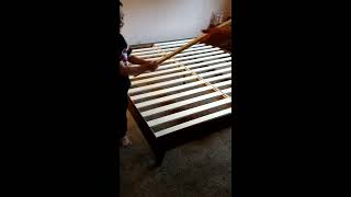 🛌🤔Putting together our Lull Cal King Size wood bedframe and opening our new mattress!🛌😍💞💯👌