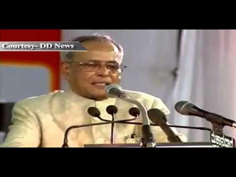 President Pranab Mukherjee at the Golden Jubilee Celebrations of Sainik School, Bijapur - Part 2