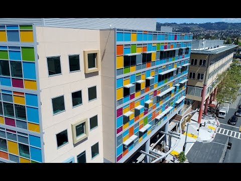 Drone video of UCSF Benioff Children's Hospital Oakland's new outpatient center