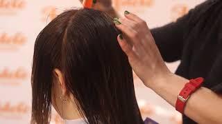 Окрашивание волос|Растяжка цвета + стрижка каре на удлинение | Секреты укладки пушистых волос