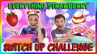 EVERYTHING STRAWBERRY SWITCH UP CHALLENGE | We Are The Davises