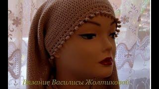 Шарф крючком  Шарф-снуд //Василиса