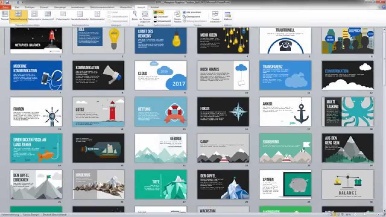 Metapher Grafiken für PowerPoint-Präsentationen - YouTube