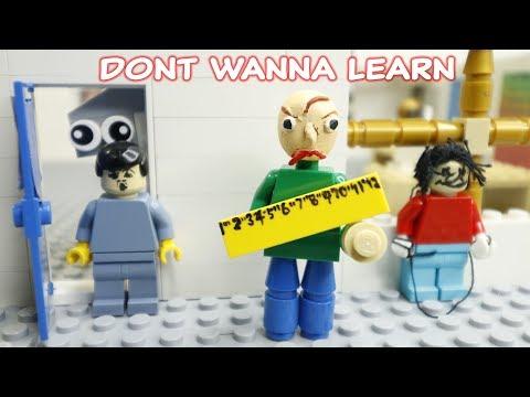 Lego Baldis Basics Don't Wanna Learn (Baldi's Basics in Education And Learning Song) Full