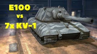 world of tanks blitz e100 vs 7x kv 1 troll video