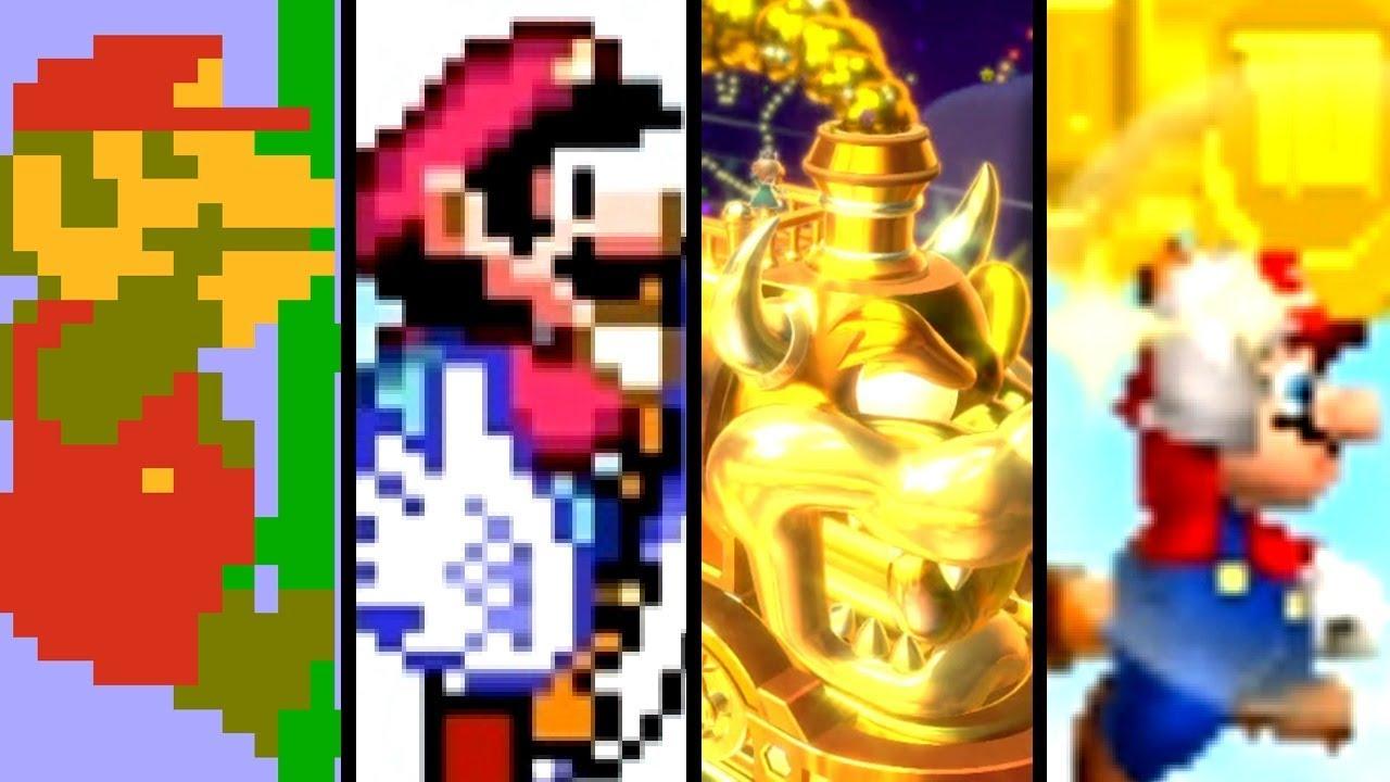 Super Mario Evolution of SECRET BONUS LEVELS 1985-2017 (NES to Switch)