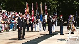 President Obama Lays Wreath at Arlington National Cemetery