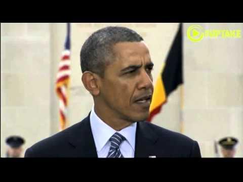 Obama Honors WWI Dead In Belgium