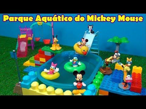 MICKEY MOUSE PISCINA PARQUE AQUÁTICO - MICKEY MOUSE SWIMMING POOL #MICKEYMOUSE  #DISNEYTOYS