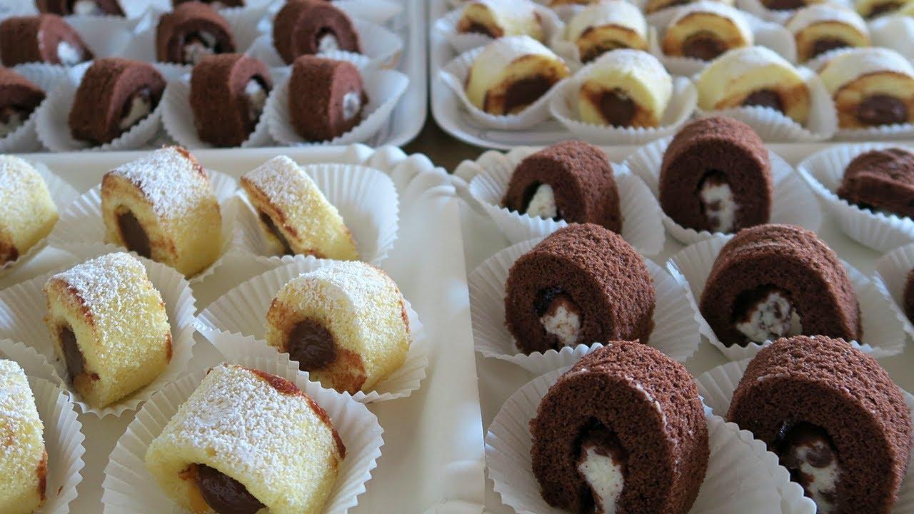 Rotolini dolci da buffet ricetta facile di benedetta per for Ricette facili dolci