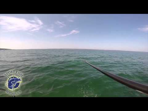 Smallmouth Bass Fishing On Grand Traverse Bays From The Rod's POV - Traverse City Bass