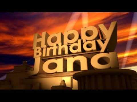 Happy Birthday Jana Youtube