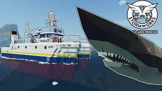 Idiots Attempt to Capture a Megalodon Army! - Stormworks Multiplayer Gameplay