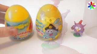 Smeshariki chocolate eggs surprises