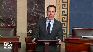 "Sen. josh hawley, r-mo, said his constituents are not focused on impeachment, but instead the everyday struggles they face. ""it is time to turn a new p..."