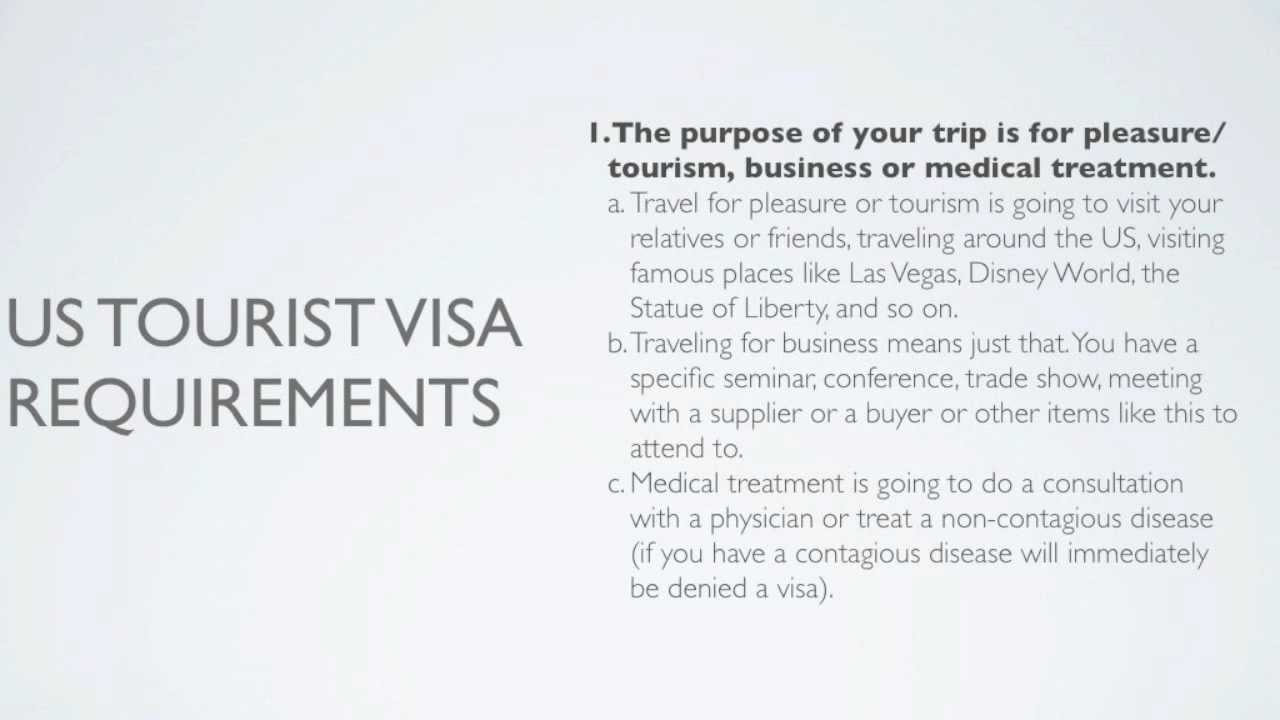 Top 3 US Tourist Visa Requirements without insane stress - YouTube