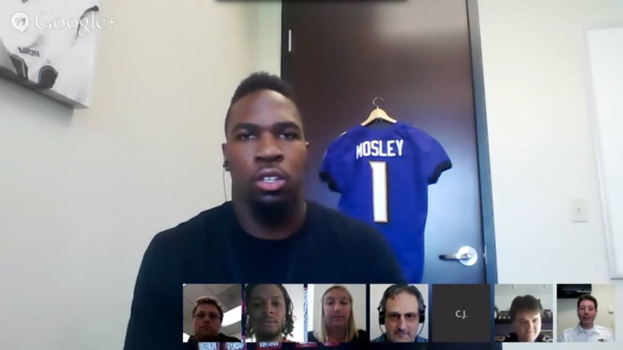 Ravens Hangout with Draft Pick C J Mosley