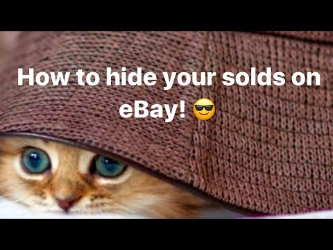How to Hide Your Sold Listings From Your Competition (aka eBay Ninja store) & 6 Sunday eBay Tips