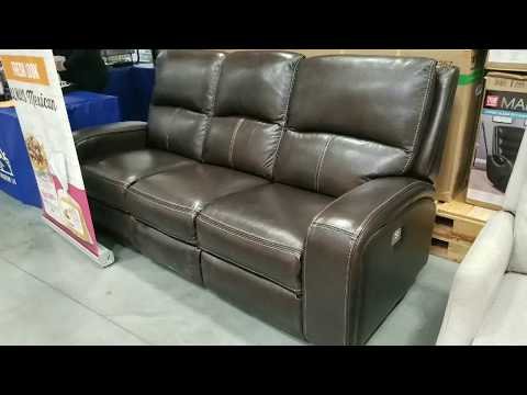 Costco Leather Sofa W 2