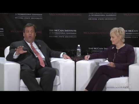 Leadership Voices Series on Human Trafficking - Cindy McCain and Chris Christie