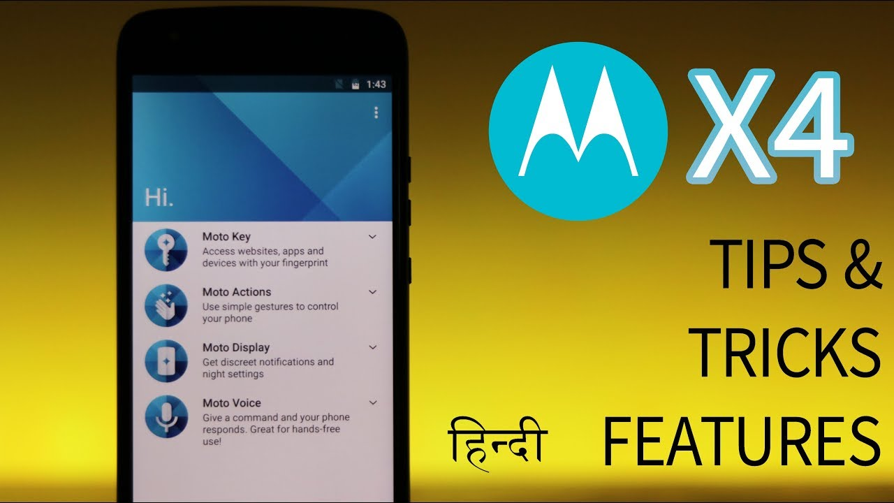 Hindi | Moto X4 Features Review | UI Tips & Tricks