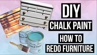 Diy Chalk Paint & How To Paint And Distress Furniture! // Easy & Cheap